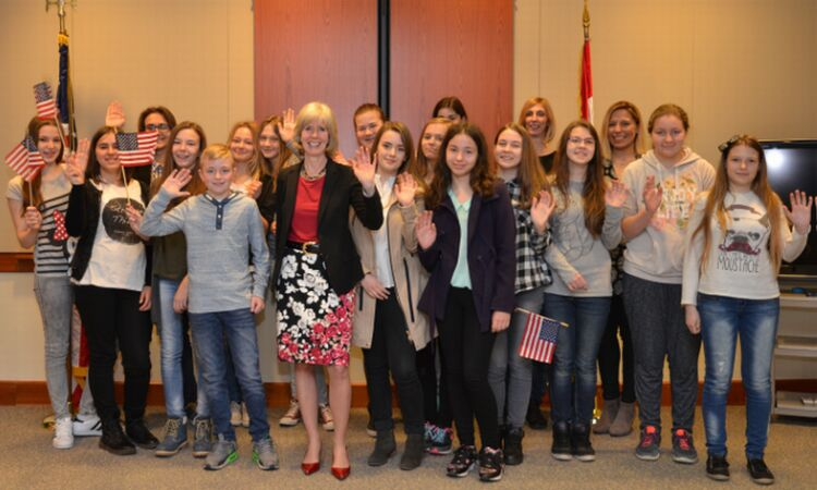 A group of high school students from Kustošija visited the Embassy [State Dept]