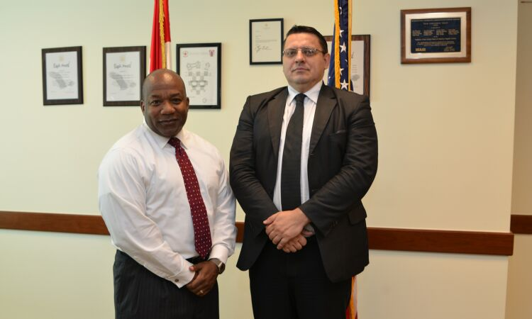 Regional Security Officer, Colin Bucknor, meets with Mr. Mladen Pemper of the Croatian Ministry of Interior [State Dept.]