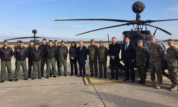 Kiowa Warriors Helicopters Arrive Croatia (State Dept.)