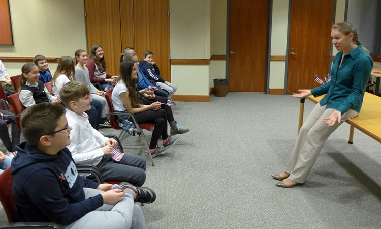 Elementary School Students Visit the Embassy (State Dept.)