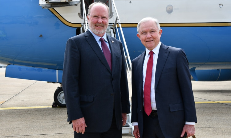 U.S. Attorney General Jeff Sessions Arrives in Zagreb (State Dept.)