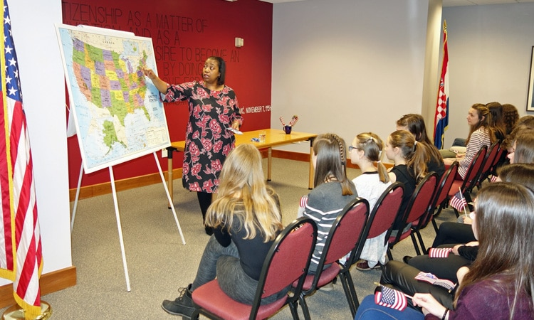 Students and Teachers Visit the Embassy (State Dept.)