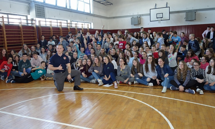 U.S. Marine Talks to Students in Varaždin (State Dept.)