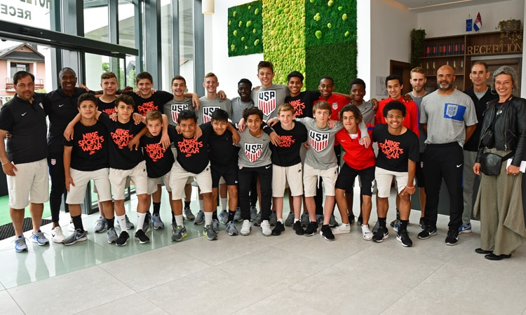 United States U-15 Boy's Soccer Team Competes in Croatia (State Dept.)