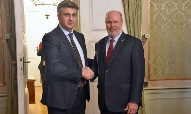 Ambassador Kohorst with Prime Minister Plenković (Photo: Vlada Republike Hrvatske)